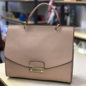 Furla leather large handbag pink